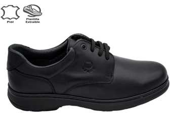 BLUCHER PIEL BORDON NEGRO
