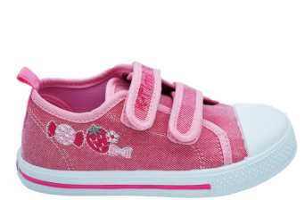 CANVAS VELCROS FUXIA