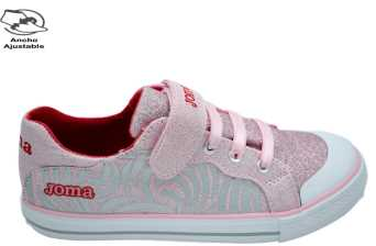 CANVAS JOMA MICHS LONA VELCRO Y ELÁSTICOS PLAYERA JUNIOR ROSA PLANTILLA PIEL 26240