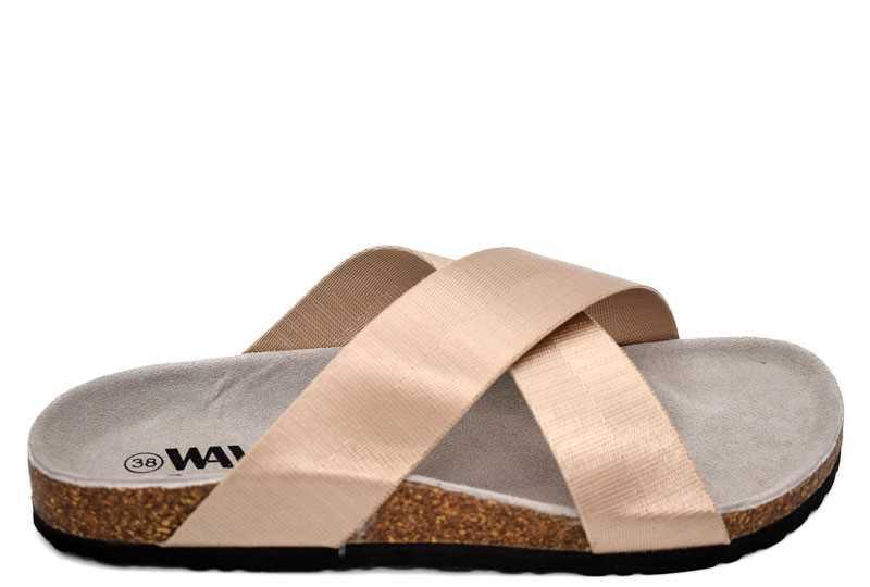 Zapato Dorado Tiras Cruzadas